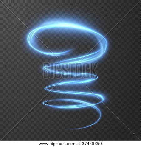 Glowing Shiny Spiral Lines Effect Vector Background. Eps10. Abstract Light Speed Motion Effect. Shin