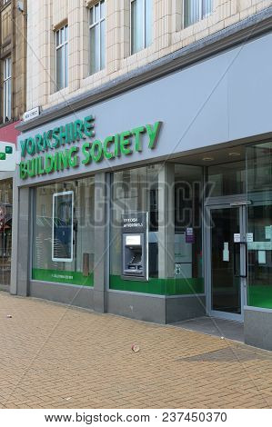 Huddersfield, Uk - July 10, 2016: Yorkshire Building Society Branch In Huddersfield, Uk. Ybs Is The