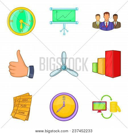 Application Program Icons Set. Cartoon Set Of 9 Application Program Vector Icons For Web Isolated On