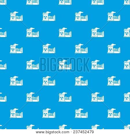 Atomic Reactor Pattern Vector Seamless Blue Repeat For Any Use