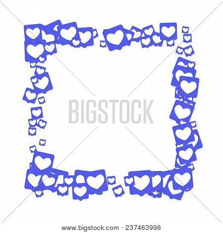 Social Media Marketing Background. Blog Design.  Social Networks. Follow And Share Social Media Icon