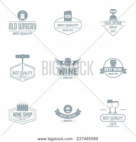 Viticulture Logo Set. Simple Set Of 9 Viticulture Vector Logo For Web Isolated On White Background