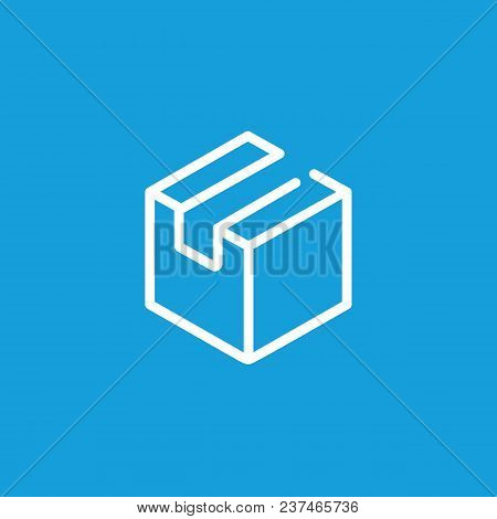 Line Icon Of Package. Cardboard Box, Parcel, Cargo. Delivery Concept. Can Be Used For Topics Like Ma