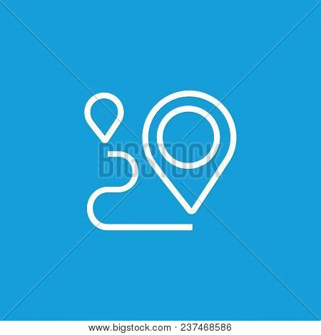 Line Icon Of Pointers On Map. Route, Guide, Orienteering. Tourism Concept. Can Be Used For Web Picto