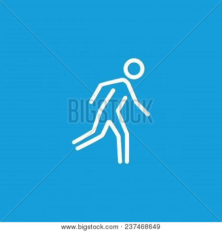 Line Icon Of Running Man. Exit, Jogging, Crosswalk. Traffic Regulations Concept. Can Be Used For Top