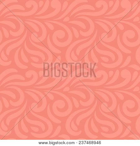 Abstract Hand Drawn Doodle Wavy Seamless Pattern. Curly Linear Messy Background. Vector Illustration