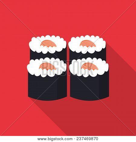 Sushi Icon. Flat Illustration Of Sushi Vector Icon For Web