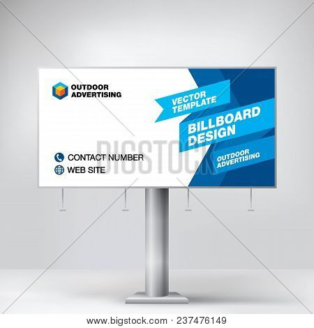 Billboard Design Template Banner For Outdoor Advertising Posting Photos And Text Modern Business