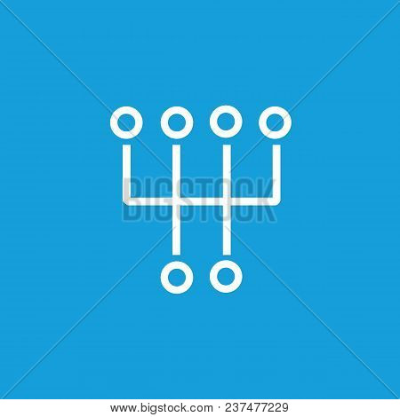 Line Icon Of Manual Transmission Symbol. Engine, Manual Gearbox, Gearshift. Automobiles Concept. Can