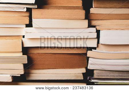 Multiple Stacks Of Books Background