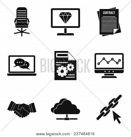 Highly Qualified Specialist Icons Set. Simple Set Of 9 Highly Qualified Specialist Vector Icons For