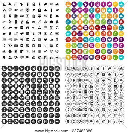 100 Dialog Icons Set Vector In 4 Variant For Any Web Design Isolated On White