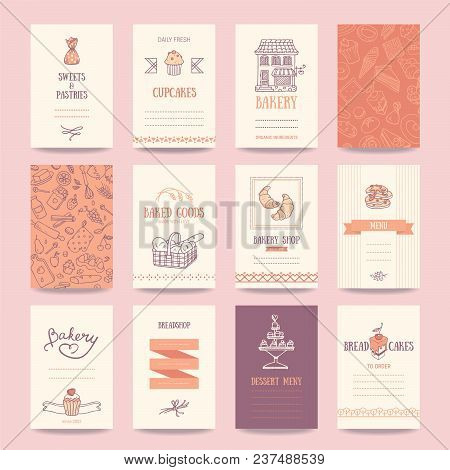 Bakery shop business vector photo free trial bigstock bakery shop business cards cafe menu restaurant banners food flyers artistic vector reheart Choice Image