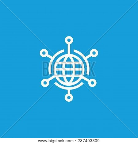 Icon Of Global Networking. Communication, Globe, Links. Globalization Concept. Can Be Used For Topic