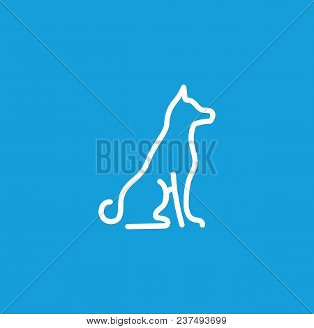 Icon Of Sitting Dog. Pet, Animal, Veterinary. Animal Care Concept. Can Be Used For Topics Like Veter