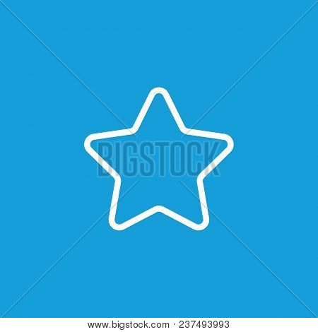 Line Icon Of Star. Featured Content, Bonus, Rating. Symbols Concept. Can Be Used For Web Pictograms,