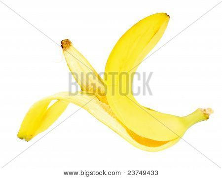 Single Yellow Banana Peel