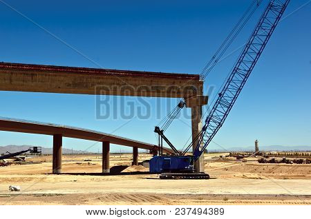 A Section Of The Loop 303 Bridge Interchange Where It Will Meet The I-10 In Goodyear Arizona Nearing