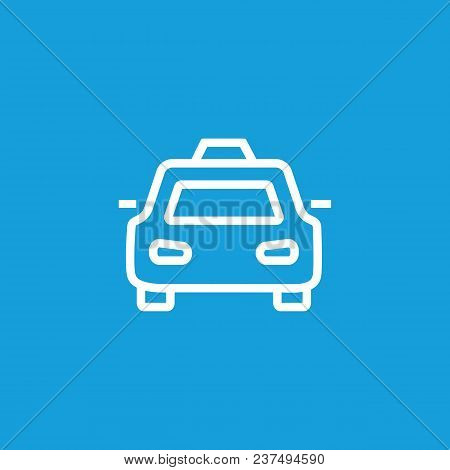 Line Icon Of Taxi. Taxi Stop Sign, Police Car, Official Car. Transport Concept. Can Be Used For Topi