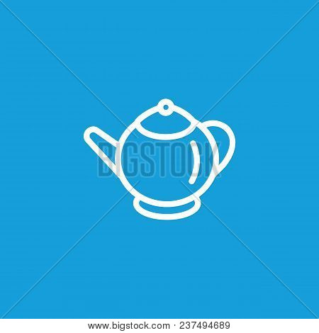 Line Icon Of Teapot. Tea Set, Tea Time, Dinner. Kitchenware Concept. Can Be Used For Topics Like Kit