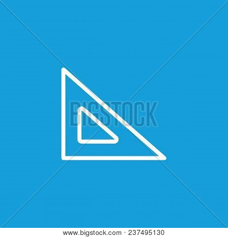 Icon Of Triangular Ruler. Tool, Triangle, Drawing. Drafting Concept. Can Be Used For Topics Like Edu