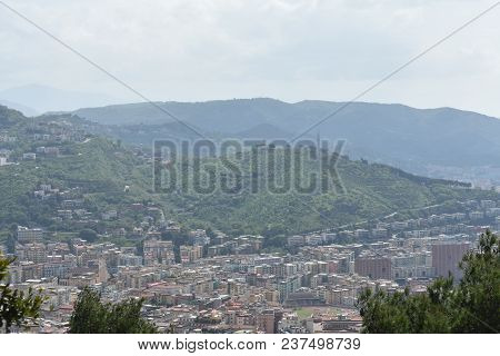 Napoli Cityscape At Morning From Top View