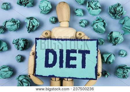 Word Writing Text Diet. Business Concept For Dietitians Create Meal Plans To Adopt And Maintain Heal