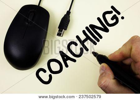 Conceptual Hand Writing Showing Coaching Motivational Call. Business Photo Showcasing Tough Training