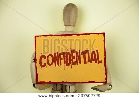 Conceptual Hand Writing Showing Confidential. Business Photo Text Agreements Between Two Parties Are
