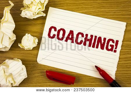 Word Writing Text Coaching Motivational Call. Business Concept For Tough Training Begins To Improve