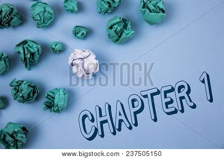 Handwriting Text Writing Chapter 1. Concept Meaning Starting Something New Or Making The Big Changes