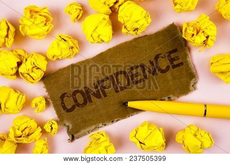 Conceptual Hand Writing Showing Confidence. Business Photo Text Never Ever Doubting Your Worth, Insp