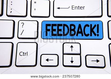 Writing Note Showing Feedback Motivational Call. Business Photo Showcasing Rating An Economical Loca