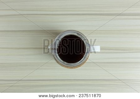Coffee Drip Cup On White Table  For Background Image.