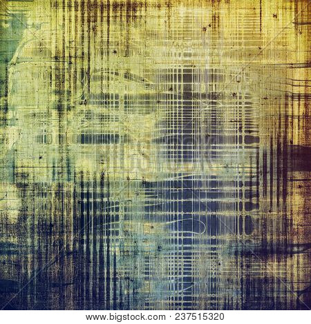 Grunge texture in ancient style, aged background with creative decor and different color patterns