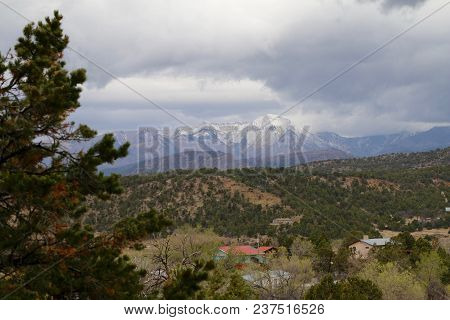 Stormy Weather Over The La Plata Mountains In Durango, Co