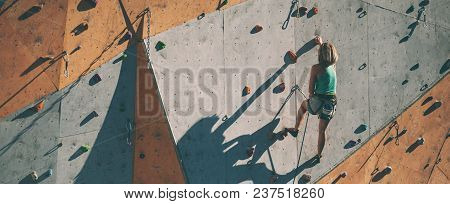 The Climber Trains On An Artificial Relief.