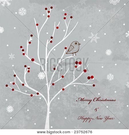 Winter retro background for christmas invitation