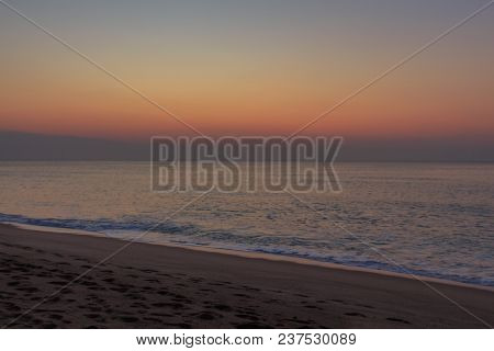 The Sunrise From The Beach: A Luxury Of Colors