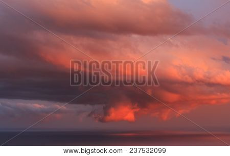 Evening Of Clouds, A Sunset Show.the Shapes That The Clouds Can Take Are Always Spectacular, The Col