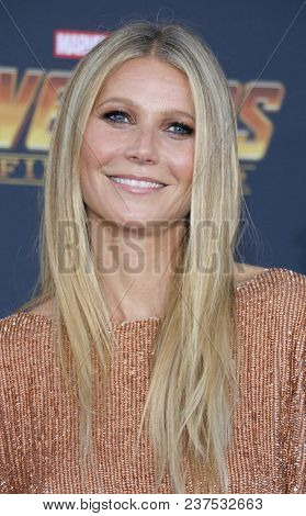 Gwyneth Paltrow at the premiere of Disney and Marvel's 'Avengers: Infinity War' held at the El Capitan Theatre in Hollywood, USA on April, 23, 2018.
