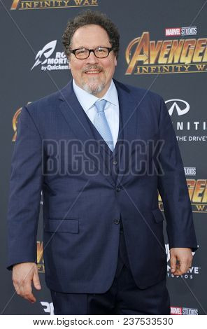 Jon Favreau at the premiere of Disney and Marvel's 'Avengers: Infinity War' held at the El Capitan Theatre in Hollywood, USA on April 23, 2018.
