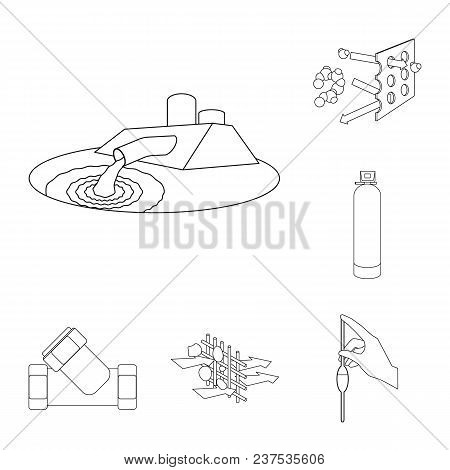 Water Filtration System Outline Icons In Set Collection For Design. Cleaning Equipment Vector Symbol