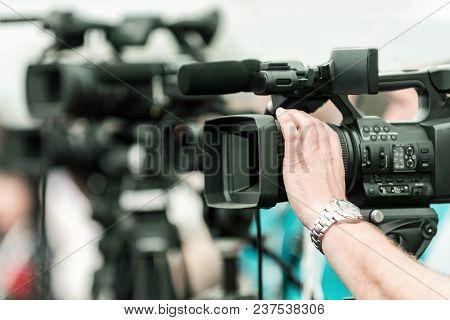 Camera Recording Event, Close Up Image, Selective Focus