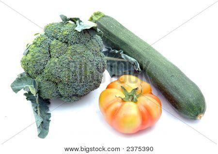 Tomato, Broccolis And Courgette