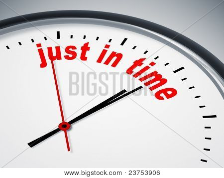 An image of a nice clock with just in time