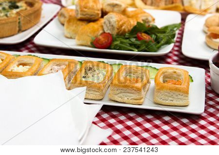 Party Food A Selection Of Different Party Foods Finger Buffet