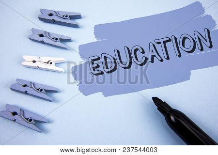 Conceptual Hand Writing Showing Education. Business Photo Text Teaching Of Students By Implementatio
