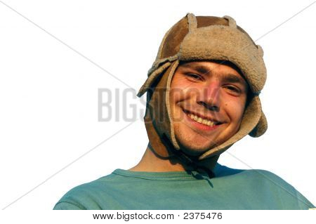 Young Man With Winter Cap