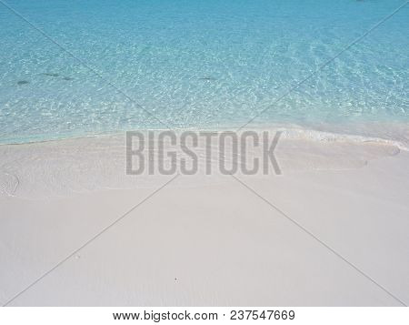 Beauty View Of Sandy Beach And Clear Turquoise Waters Of Caribbean Sea Landscapes At Cancun City At